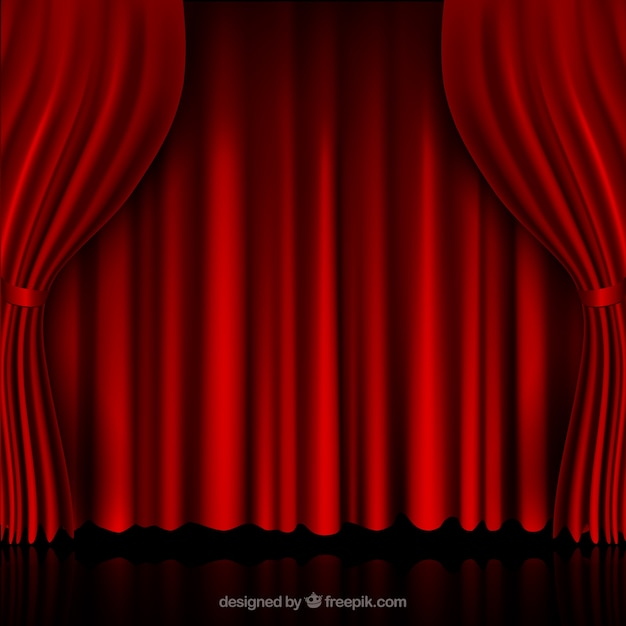 Red curtains Vector  Free Download
