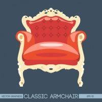 Red vintage armchair Vector | Free Download