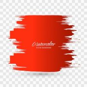 red watercolor brush stroke background