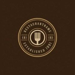 restaurant vector fork premium logos menu badge silhouette cafe template modernes restaurants modern restaurante freepik gratis save vecteur