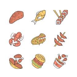 icons restaurant menu premium vector