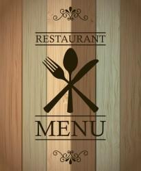 Premium Vector Restaurant menu over wooden background vector illustration