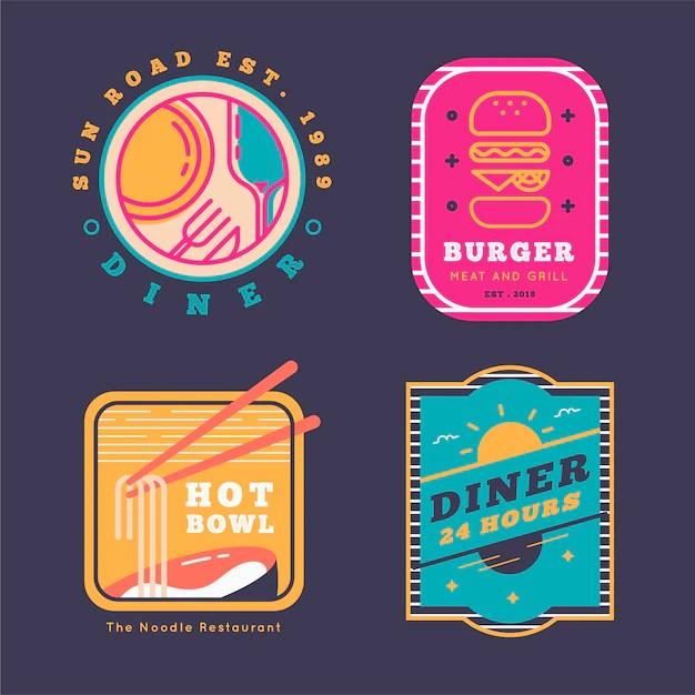 Free Vector Retro Design Restaurant Logo
