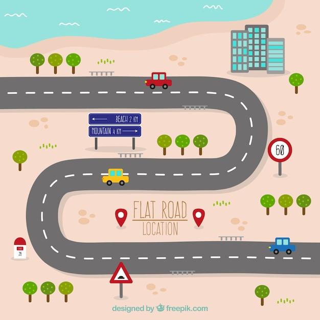 road map in flat