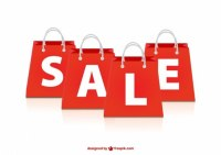 Sale red bags Vector | Free Download