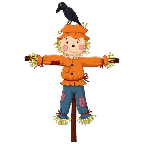 scarecrow cartoon vector premium
