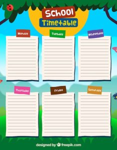School timetable design free vector also download rh freepik