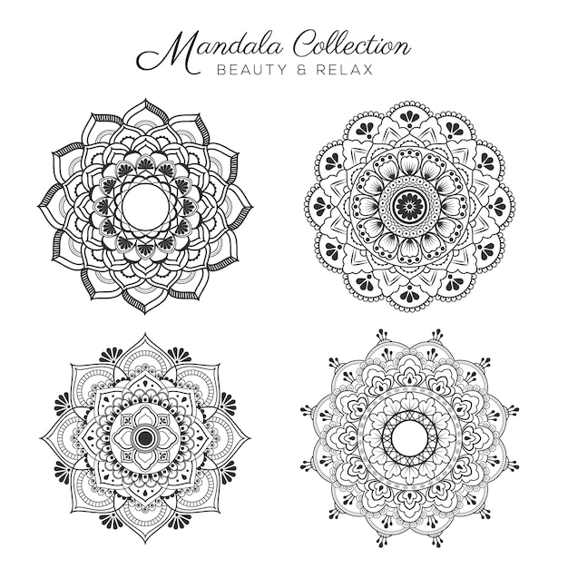 Set of mandala decorative and ornamental design for