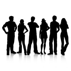 Free Vector Silhouettes of casual dressed people