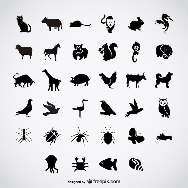 simple birds silhouettes vector