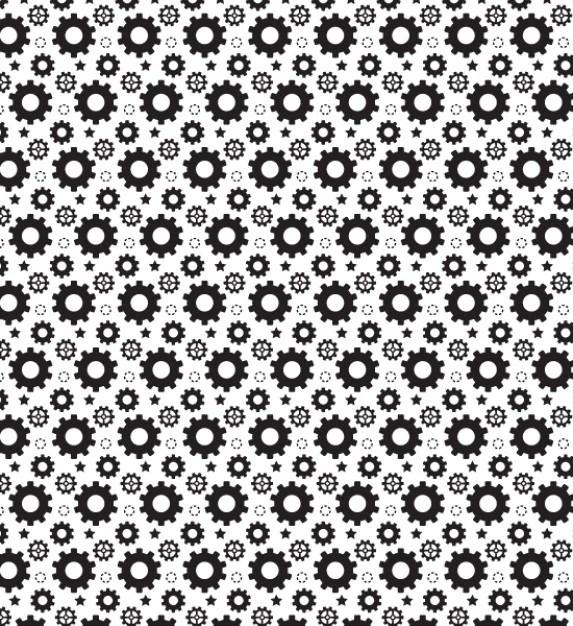 Simple gear seamless pattern | Free Vector