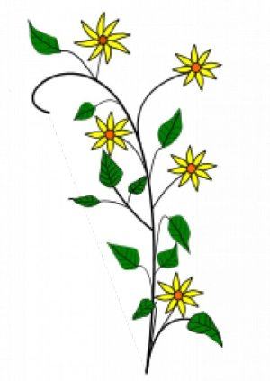 simple drawing yellow flowers background freepik vector