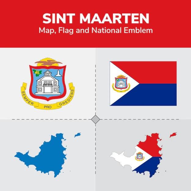 sint maarten map flag