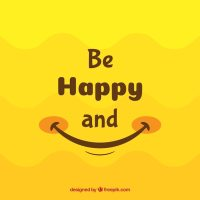 Smile background in yellow tones Vector