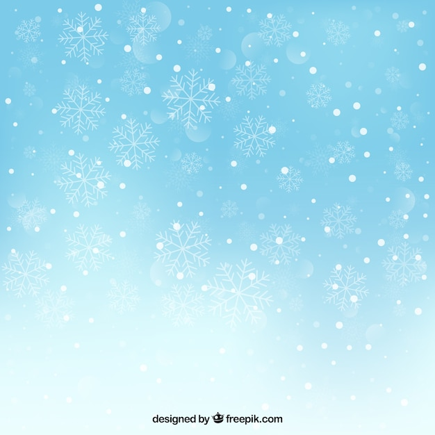 Snowy background Vector  Free Download