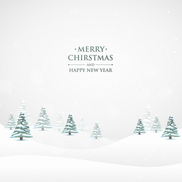 Snowy Christmas Nature Background Vector Free Download