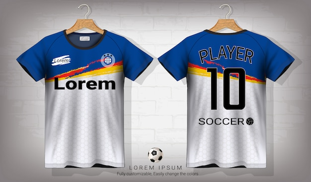Download Soccer jersey and t-shirt sport mockup template. | Premium ...