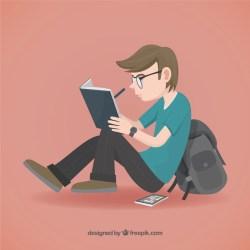 Premium Vector Student illustration