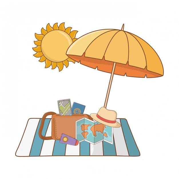 Summer vacation relax cartoon Vector   Free Download
