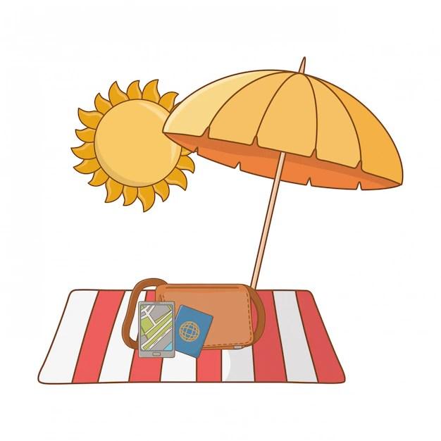 Free Vector Summer Vacation Relax Cartoon