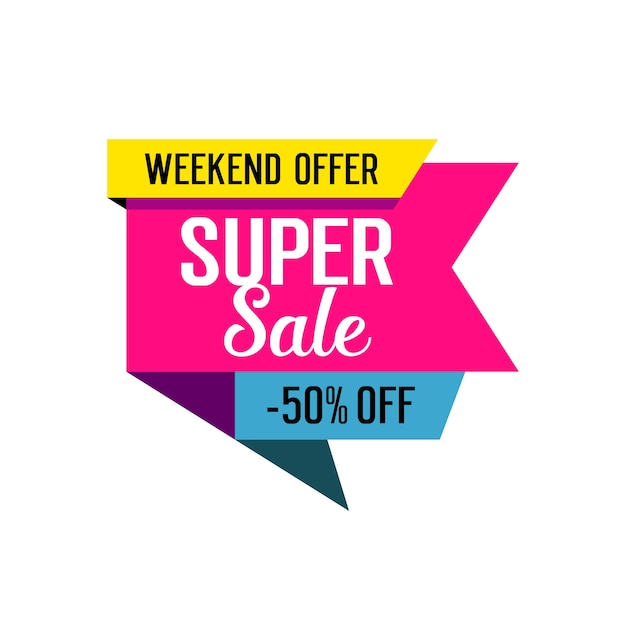 Super Sale Lettering On Tag Vector Free Download