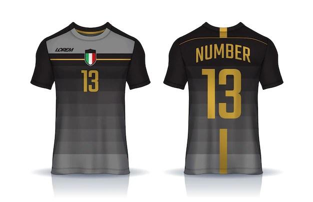 Download T-shirt sport design template, soccer jersey mockup for ...