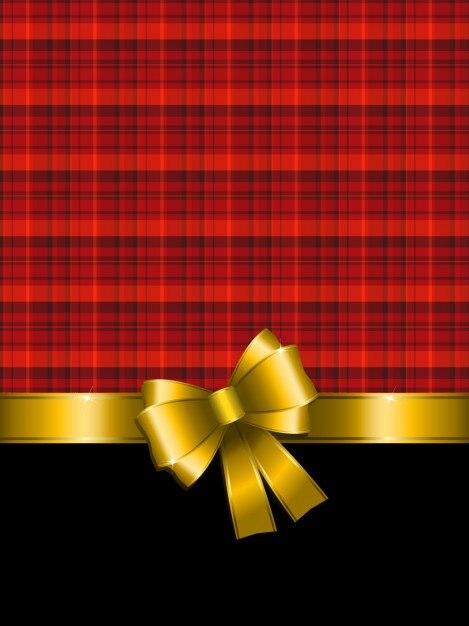 Tartan Christmas Background Vector Free Download