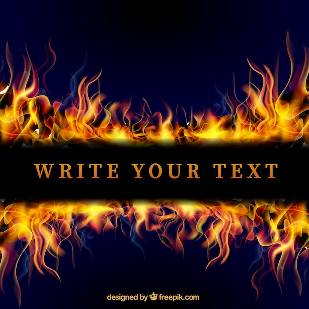 template with flames vector