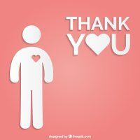 Thank you card Vector   Free Download