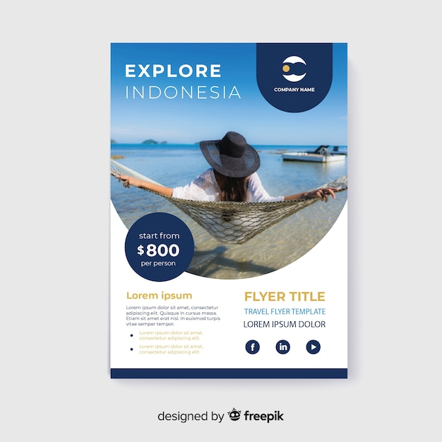 travel flyer girl with