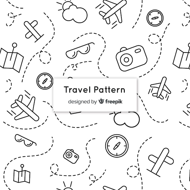 travel pattern with elements