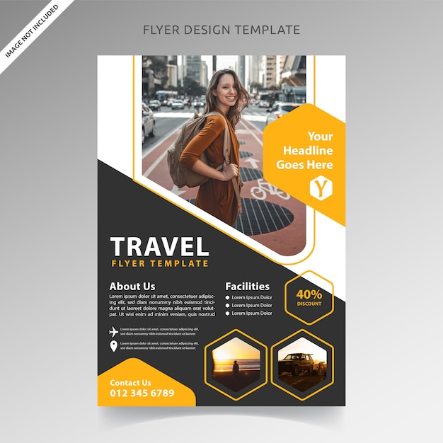 Premium Vector Travel Tour And Vacation Flyer Template