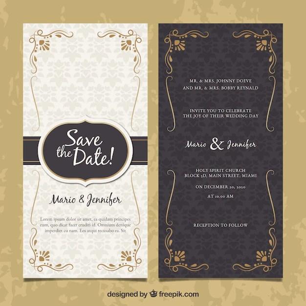 two sided wedding invitation