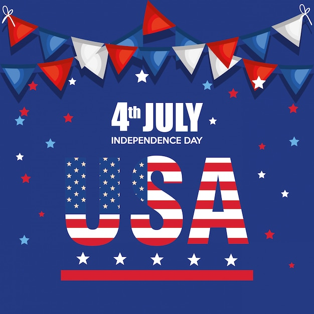 Usa independence day celebration poster Free Vector