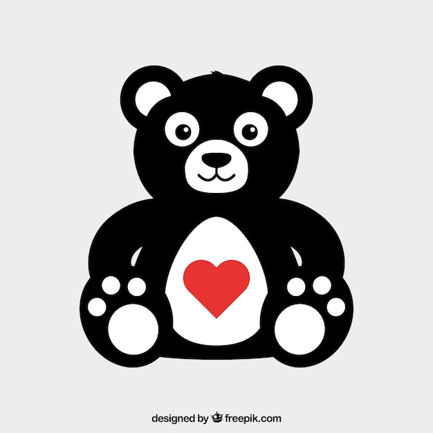 Valentines Day Teddy Bear Vector Free Download
