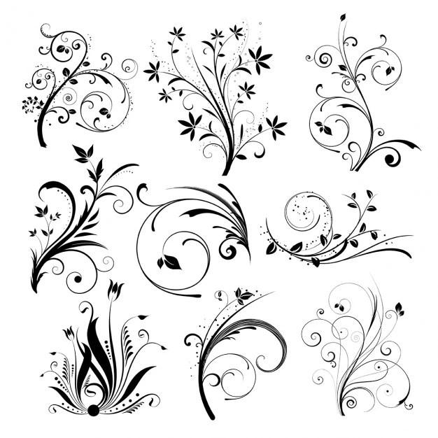 various different floral designs