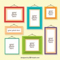 Various photo frames in flat design Vector   Free Download