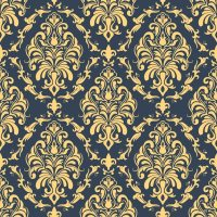 Vector damask seamless pattern background. Classical ...
