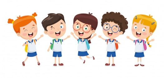 cartoon students vector illustration premium