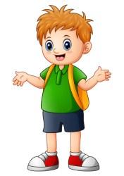 boy cartoon cute go illustration vector premium profile