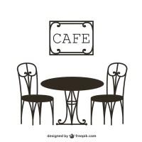 Vintage cafe table Vector   Free Download