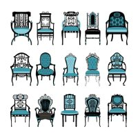 Vintage chairs collection Vector | Free Download