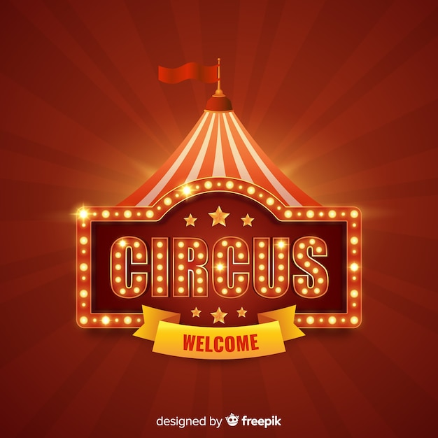 Cute Boy Wallpaper Download Vintage Circus Light Sign Background Vector Free Download