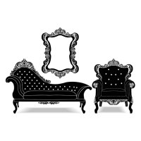 Vintage furniture collection Vector | Free Download