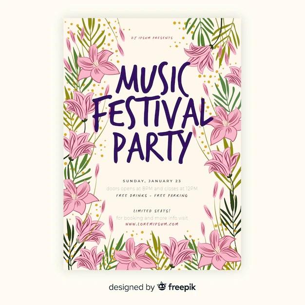 vintage tropical music festival poster