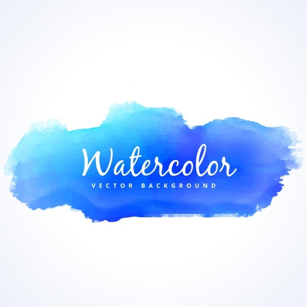 watercolor blue stain vector