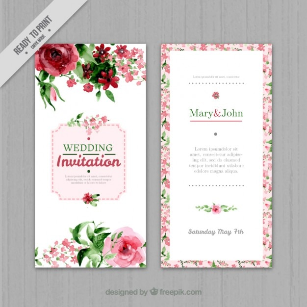 wedding invitation cards free vector