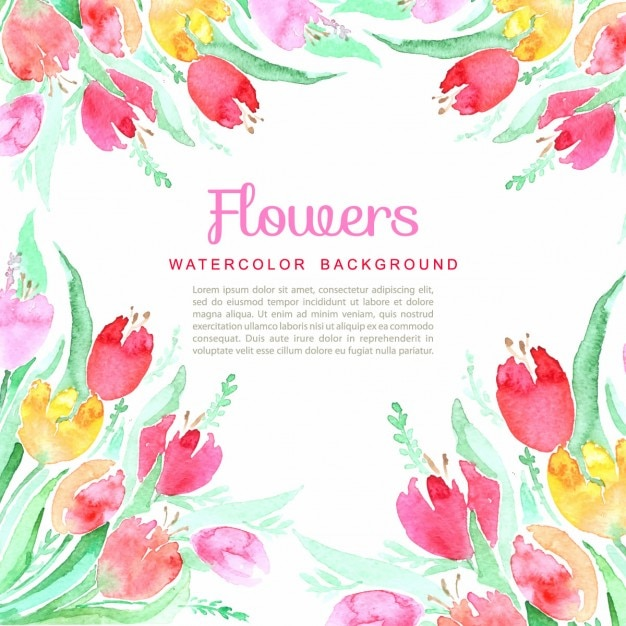 Lilly Pulitzer Fall Wallpaper Watercolor Flowers Spring Background Vector Free Download