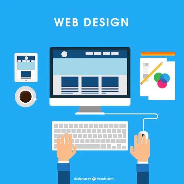 Web Design Desk Vector  Free Download