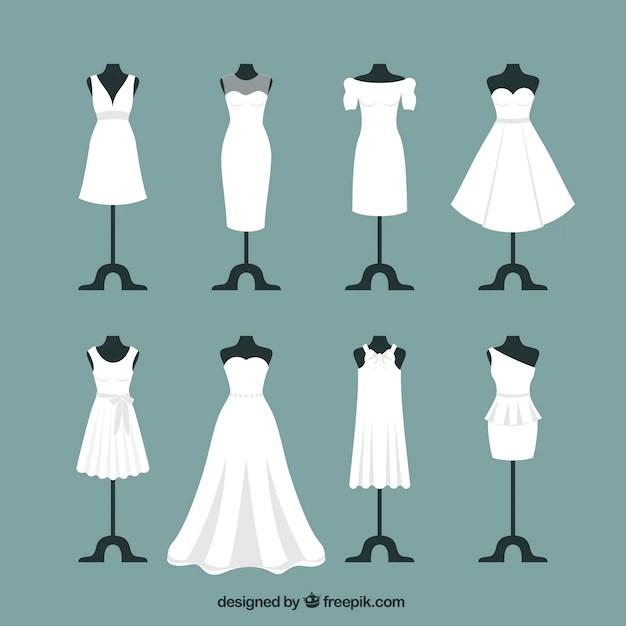 Wedding dresses Vector